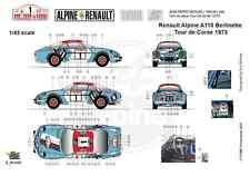 [FFSMC Productions] Decals 1/18 Berlinette Alpine A110 1800 Tour de Corse 1973