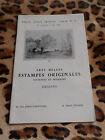 Catalogue Drouot, Très belles estampes originales anciennes et modernes, dessins