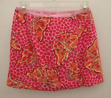Girls LILLY PULITZER Pink Butterfly & Zebra Reversible Skirt ~ Size 7 (I26)