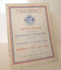 Haywards Heath Sussex George V & Queen Mary Jubilee Souvenir Programme of Events