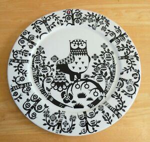 "iittala Finland Klaus Haapaniemi Taika 11.75"" Black & White Owl Charger (BNWOT)"