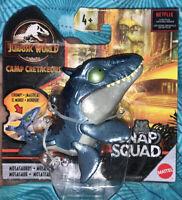 2020 Jurassic World Snap Squad Shiny Blue Mosasaurus Camp Cretaceous Collector