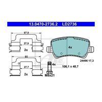 ATE 13.0470-2736.2 Bremsbelagsatz, Scheibenbremse ATE Ceramic   für Volvo V60