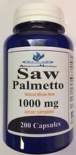 Saw Palmetto 200 Capsules 1000 mg Prostate Health 6 Month Advanced Nutrition