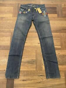 Brand New Robin's Jean Man's Chapa Embroidered Denim D.S. Size 31