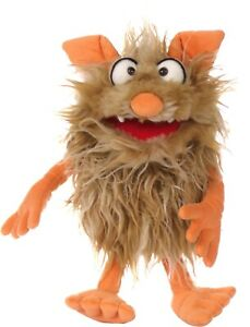 Living Puppets Monster To Go Flausi- 13 13/16in + With Paper Bag
