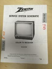 Zenith Service Manual Schematic for the D2020W TV Receiver    mp