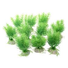 10pcs Green Fake Plastic Plants Aquarium Fish Tank Decoration Ornament New WS