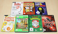 PC SPIELE SAMMLUNG USE YOUR BRAIN GEHIRNJOGGING MAHJONGG SUDOKU MARIKO LOGIK