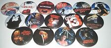 15 Slasher film badges The Prowler Friday 13th Halloween Burning Intruder Inside