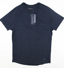 French Connection - Navy Fleck Neppy T-Shirt - Size S - *NEW WITH TAGS* RRP £30