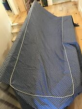 Vintage Blue Bedspread Cotton With Edge Dust Covers
