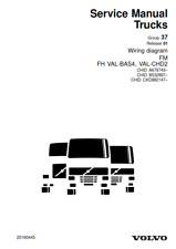 VOLVO TRUCKS WIRING DIAGRAM FM, FH VAL-BAS4, VAL-CHD2  2008 EDITION REPRINTED