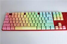 Keycaps Rainbow 87 Keys OEM Profile MX Switch PBT Keycap For Mechanical Keyboard