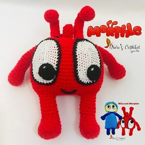 Morphle Cartoons Toy Sage For Children's. Handmade Product. Crocheted.