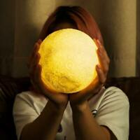 16 Color Rechargeable Moon Lamp Night Light Kid Dimmable N Remote LED Y1G4