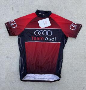 Primal Cycling Jersey Team Audi 2015 Sport Cut Full Zip Raglan Men's Size Small