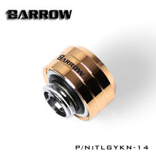 Water Cooling Compression Fitting For Rigid Acrylic Tubing 14mm OD Gold New Ver