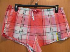 Women/'s Gilligan /& O/'Malley Peach striped Pajama lounge shorts P/'js New Size XL