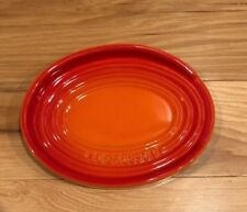 "6.5"" Oval Spoon Rest LE CREUSET Volcanic ""Flame"" Orange NWT Stoneware Ombre"
