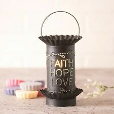 Wax Tart Warmer Faith Hope Love Electric Kettle Black Irvins Country