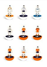 More details for a4 subbuteo luton town print - featuring 9 kits