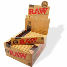 RAW Classic King Size Slim Rolling Papers, Box of 50