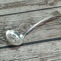 VINTAGE SUGAR SIFTER/SPRINKLE SPOON ~ Old English Pattern ~  SILVER PLATE/PLATED