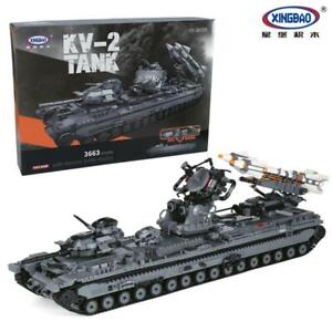 Xingbao XB-06006 KV-2 Tank Building Block Set 3663 Pieces