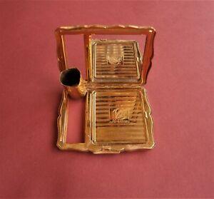 Vintage Gold Tone Stratton Powder Compact with Mirror&Lipstick Holder