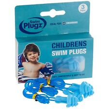 Swim Plugz Childrens Swim Earplugs - 3 Pair Pack (FREE UK P&P)