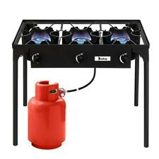 225000-BTU Professional Outdoor Camp Stove Propane 3 Burner Portable BBQ Grill