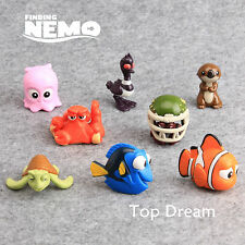 8X Cartoon Movie Finding Nemo Dory PVC Action Figures Toy Doll Cake Toppers Gift