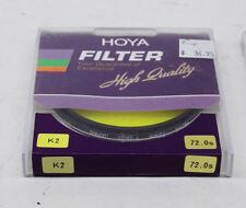 Hoya 72mm K2 Yellow Filter NEW