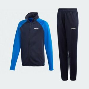 adidas boys navy/blue Entry tracksuit. Jogging suit. Warm up suit. Various sizes