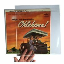 """RESEALABLE flap outer vinyl record sleeves plastic cover 12"""" LP (50 pieces)"""