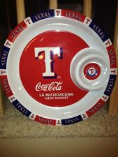 Texas Rangers Baseball - Fiesta Serving Platter - Coca-Cola & La Michoacana -EUC