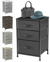 Nightstand Dresser with 3 Drawers - Bedside Furniture & Accent End Table Chest