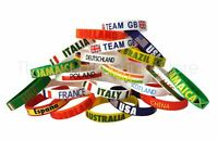 Country Silicone Rubber Wristbands Olympics Euro Football All Nations