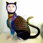 Sergio Bustamante's Carioca Cat Ceramic Sculpture - Large Significant Piece COA