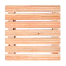 Pedana per piatto doccia antiscivolo 68 x 68cm con assi in legno massello larice