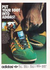 "1970's  Adidas ""SL 76"" Running Shoe Vintage Print Advertisement"