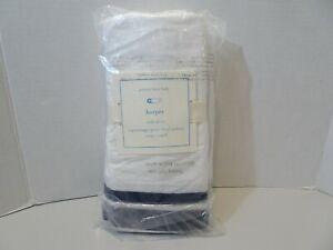 "Pottery Barn Baby Harper Crib Skirt 16"" Drop Navy NEW"