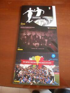 2020 Folder Juventus - Palermo - Napoli - Tiratura limitata - Qualità lusso