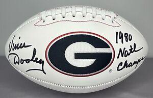 Vince Dooley SIGNED Georgia Bulldogs Football COA & Photo PROOF ~ 1980 Champs