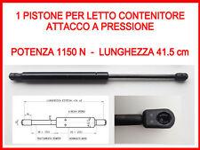 PISTONE A GAS MOLLA DI RICAMBIO PER LETTO CONTENITORE-1150 N-ATTACCO A PRESSIONE