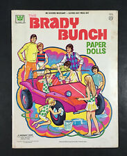 """THE BRADY BUNCH"" 1973 WHITMAN UNCUT PAPER DOLLS VINTAGE"