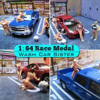 1:64 Race Medal Figures Wash Car Sister Lovely Fat Sister Model For Matchbox `,