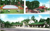 1940s Albany Georgia River Bend Motel and Restaurant Cars Postcard Marvin Buell