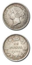 Canada Queen Victoria 10 Cents 1888 KM-3 Extra Fine